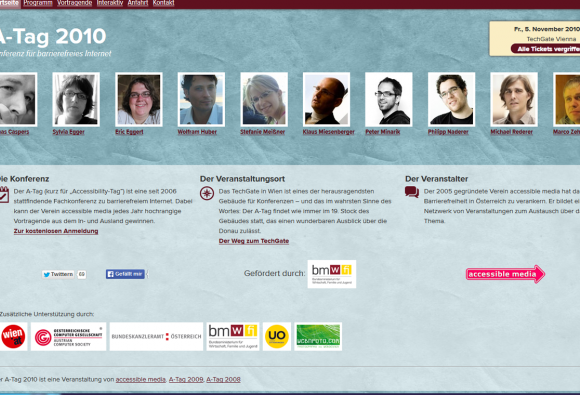 Screenshot Website ATAG 2010